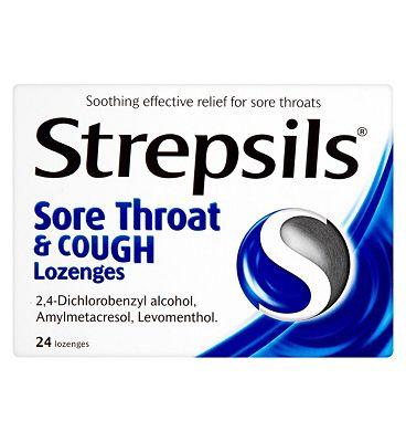 Strepsils sore throat & cough - 24 lozenges