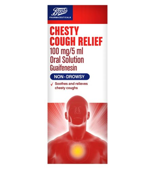 Boots Chesty Cough Relief 100mg/5ml Oral Solution (150ml)