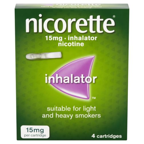 Nicorette 15mg inhalator  - 4 cartridges