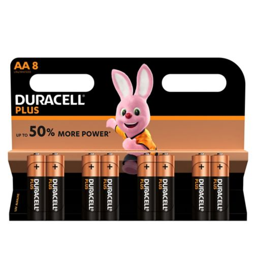 Duracell Plus Power AA Battery - 8 Batteries