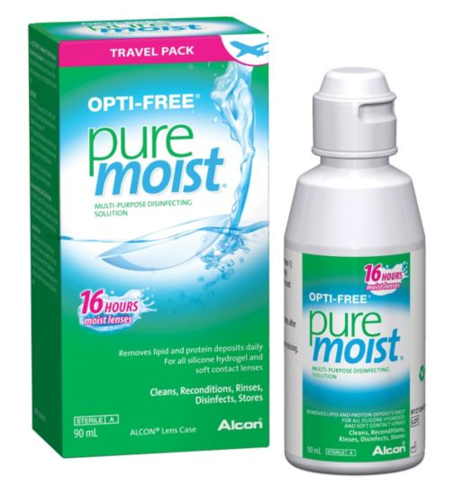 Opti-Free PureMoist Multi-Purpose Disinfecting Solution Travel Pack - 90ml