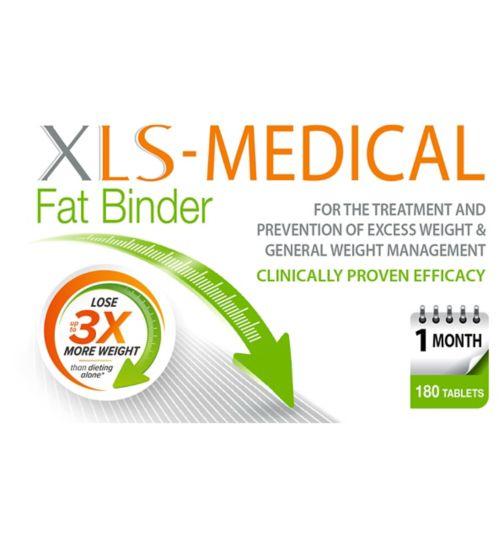 XLS Medical Fat Binder 180 Tablets Weight Loss Management