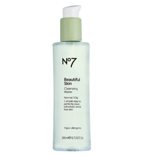 No7 Beautiful Skin Cleansing Water for Normal Oily Skin 200ml - Boots