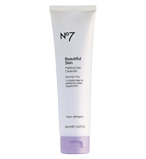 No7 Beautiful Skin Melting Gel Cleanser for Normal / Dry Skin 150ml