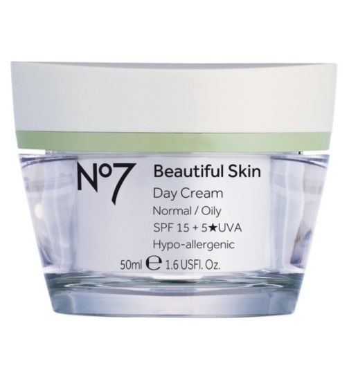 No7 Beautiful Skin Day Cream for Normal / Oily Skin SPF 15 50ml