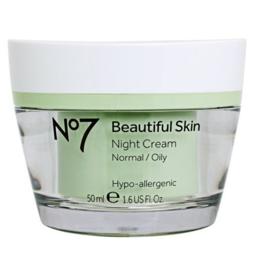 No7 Beautiful Skin Night Cream for Normal / Oily Skin 50ml
