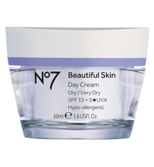 No7 Beautiful Skin Day Cream for Dry / Very Dry Skin SPF 15 50ml