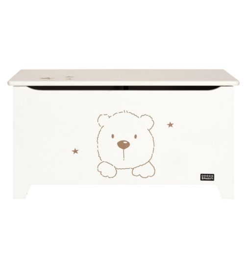 Tutti Bambini 3 Bears Toy Box - White Finish