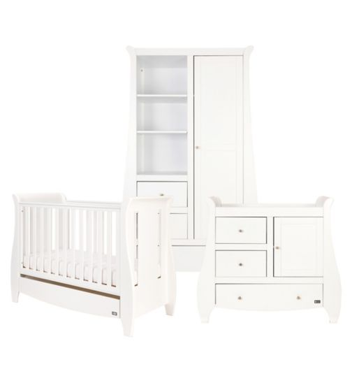 Tutti Bambini Lucas 3Piece Room Set - White Finish