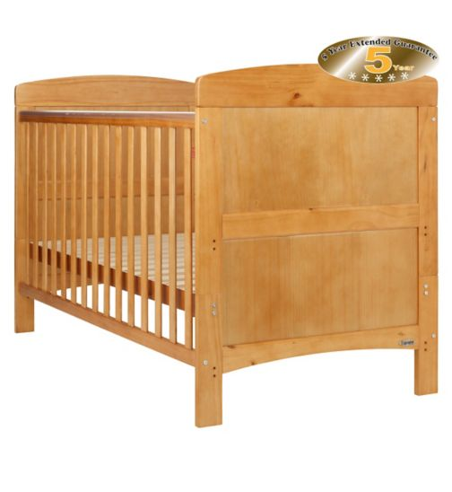 OBaby Grace Cot Bed - Country Pine Finish