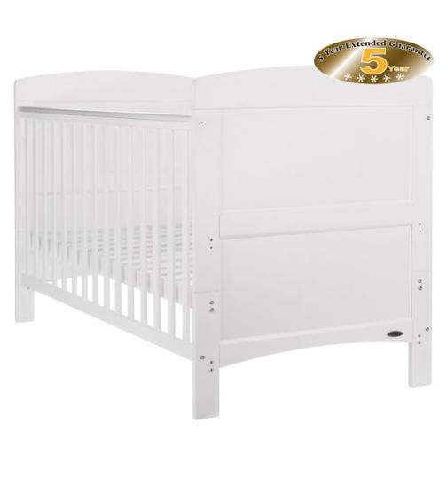 OBaby Grace Cot Bed - White Finish