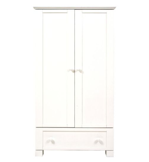 East Coast Montreal Double Wardrobe - White Finish