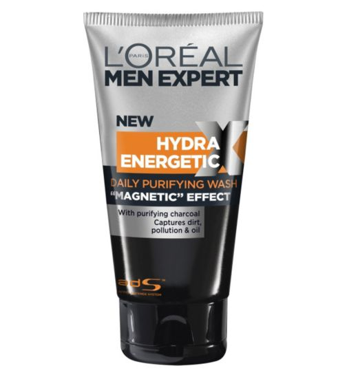 L'Oreal Men Expert Hydra Energetic X-Treme Black Charcoal Face Wash 150ml