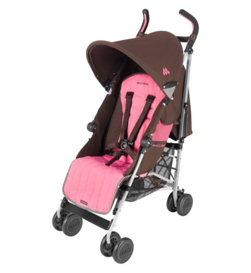Maclaren Quest Sport Pushchair - Coffee & Carmine Rose