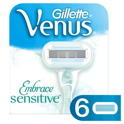 Gillette Venus Embrace Sensitive Women's 6 Razor Blade Refills