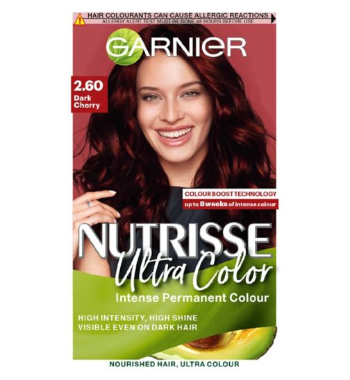 Garnier Nutrisse 2.6 Dark Cherry Red Permanent Hair Dye