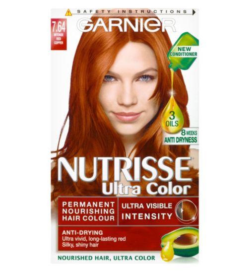 Garnier Nutrisse Ultra Permanent Hair Colour 7.64 Red Copper