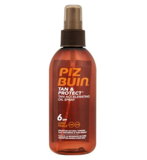 Piz Buin Tan & Protect Tan Accelerating Oil Spray SPF6 Low 150ml