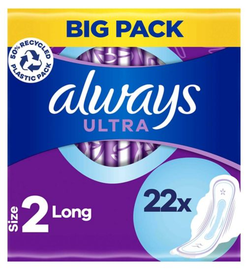 Always Ultra Sanitary Towels Long with Wings
