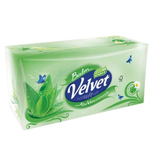 Velvet Balm Facial Tissues