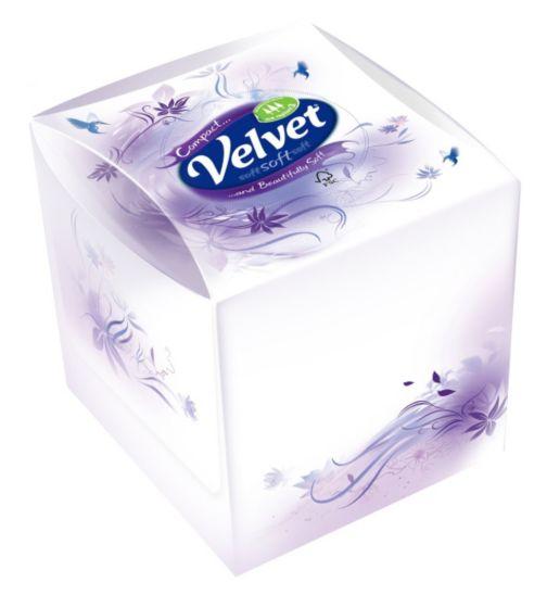 Velvet Compact Facial Tissues