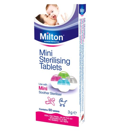 Milton Mini Sterilising Tablets - 50 Pack