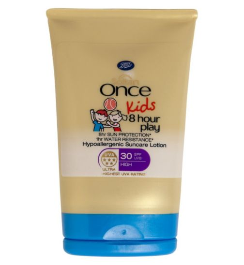 Soltan Once Kids 8 Hour Play Hypoallergenic Suncare Lotion SPF 30  - 1 x 50ml