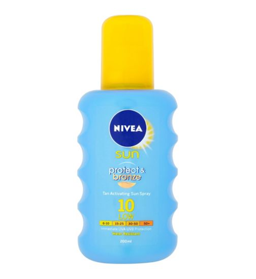 Nivea Sun Protect & Bronze Spray SPF10 200ml