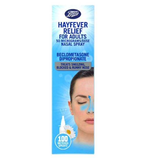 Boots Hayfever Relief For Adults 50 micrograms/dose Nasal Spray (100 Metered Sprays)