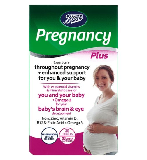 Boots Pregnancy Support Plus - 30 capsules + 30 tablets