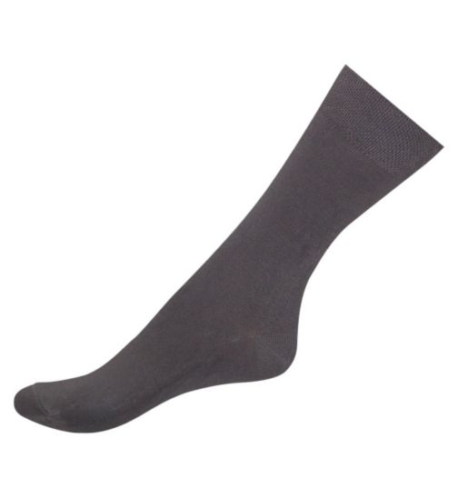 Boots Bamboo Comfort Top Socks Grey X3