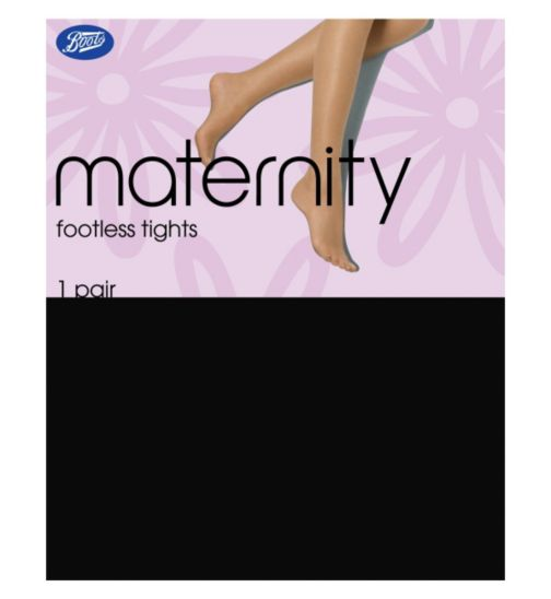 Boots Maternity Footless Black Tights 1 Pair Pack