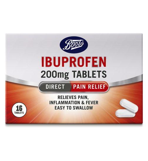 Boots Pharmaceuticals Ibuprofen Caplets 200mg - 16 Caplets