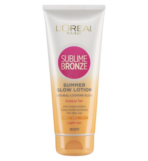 L'Oreal Sublime Bronze Gradual Tan 24 Hour Moisturising Lotion Light Skin 200ml