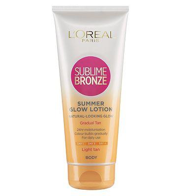 LOreal Sublime Bronze Gradual Tan 24 Hour Moisturising Lotion Light Skin 200ml