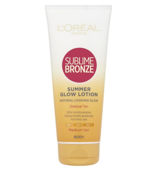 L'Oreal Sublime Bronze Gradual Tan 24 Hour Moisturising Lotion Medium Skin 200ml