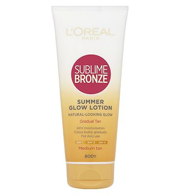 LOreal Sublime Bronze Gradual Tan 24 Hour Moisturising Lotion Medium Skin 200ml
