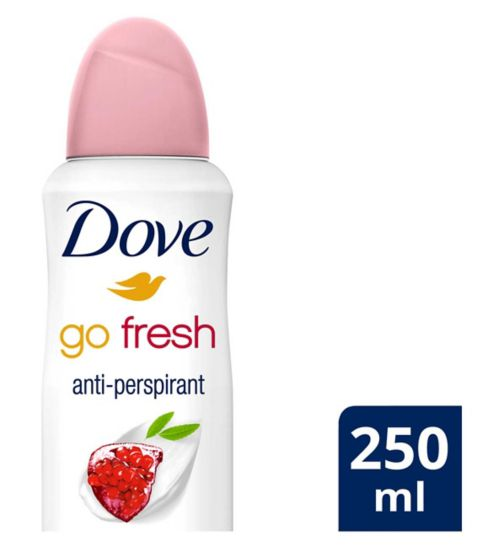 Dove Go Fresh Anti-perspirant Deodorant Aerosol Pomegranate 250ml