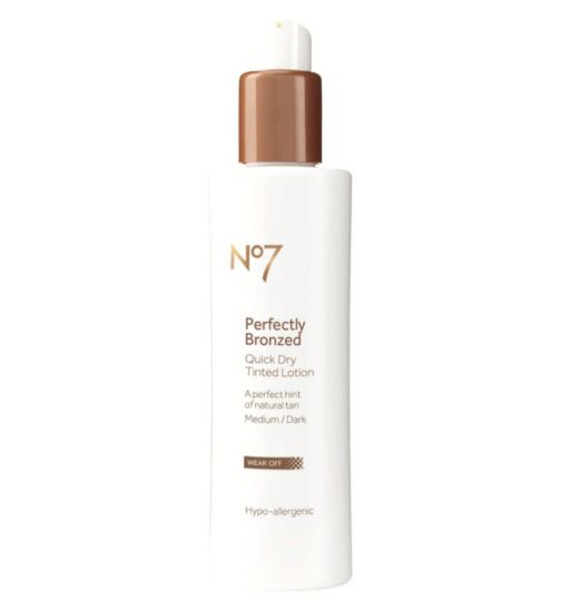 No7 Perfectly Bronzed Self Tan Quick Dry Tinted Lotion Medium/Dark