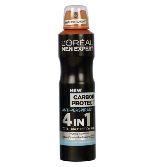 L'Oreal Men Expert Carbon Protect 4-in-1 Anti-Perspirant Deodorant Spray 150ml