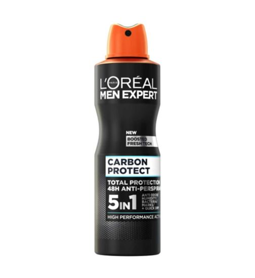 L'Oreal Men Expert Carbon Protect 4-in-1 Anti-Perspirant Deodorant Spray 250ml