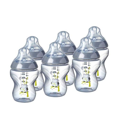 Tommee Tippee Closer To Nature Blue 6pack Feeding Bottle