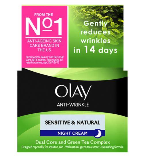 Olay Anti-Wrinkle Sensitive & Natural Gentle Moisturiser Night Cream 50ml