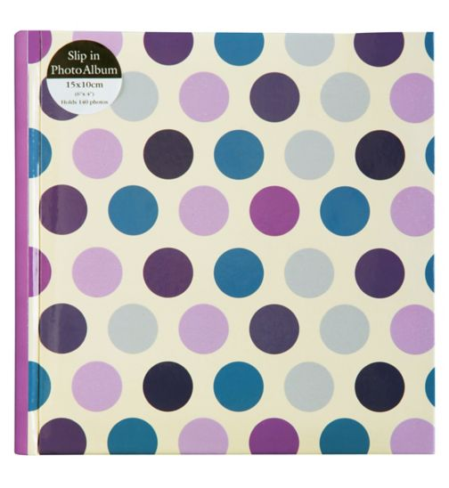 Polka Dot Photo Album 6x4 - 140 photos