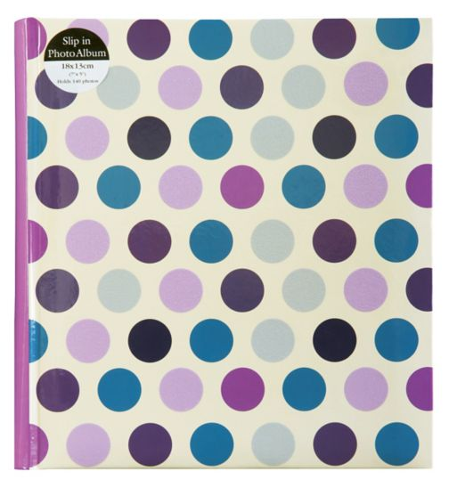 Polka Dot Photo Album 7x5 - 140 photos