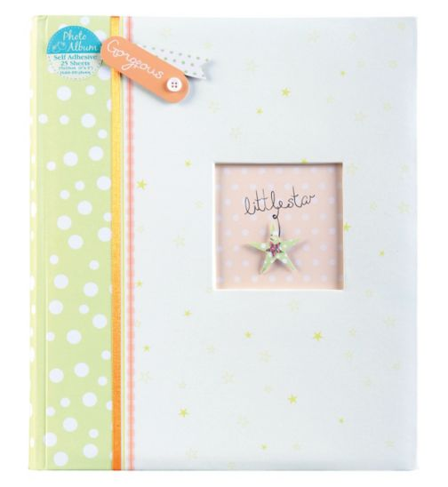 Little Star Self Adhesive Photo Album 6x4 - 25 sheets