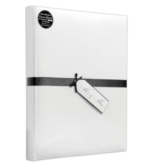 Mr & Mrs Photo Album - 25 Self-Adhesive Sheets