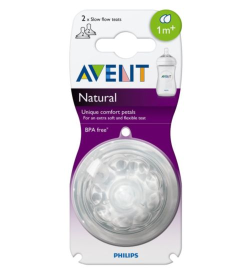 Philips Avent Teat Slow Flow 1month+