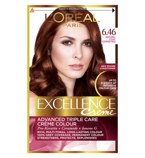 L Oreal Excellence 6 46 Natural Light Copper Red Hair Dye