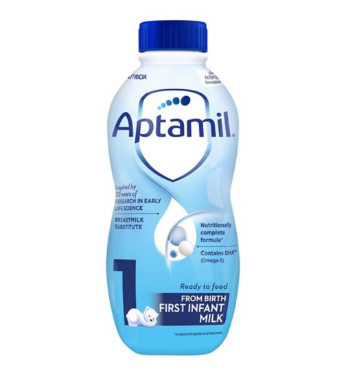Aptamil 1 First Milk Liquid - Ready to Feed Formula 1 Litre